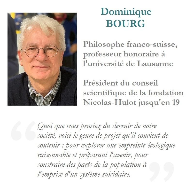 Dominique Bourg soutient de 06 planète