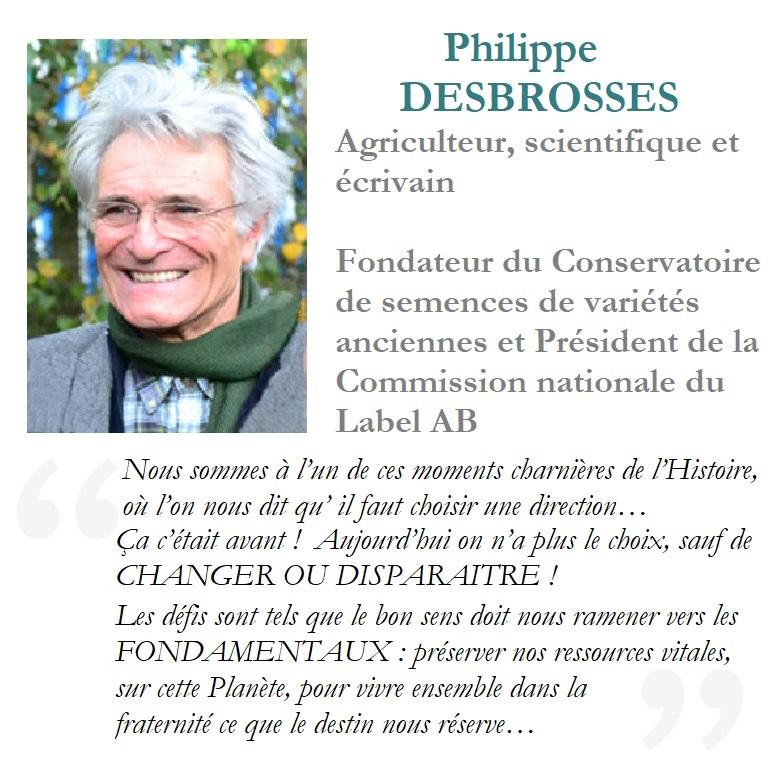 Philippe Desbrosses soutient de 06 planète